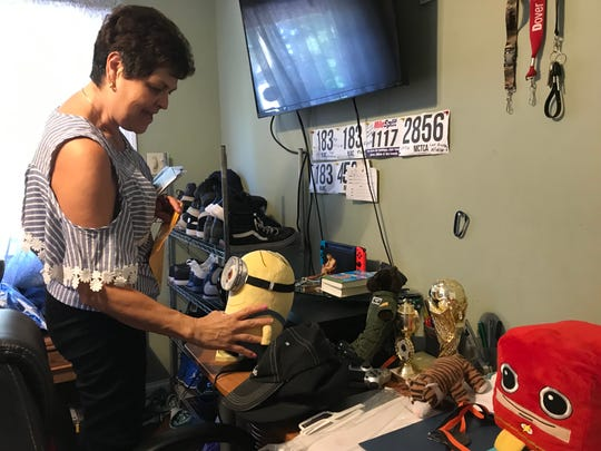 Steven's Mother, Beatriz Restrepo, talks about the different trinkets in Steven's room.