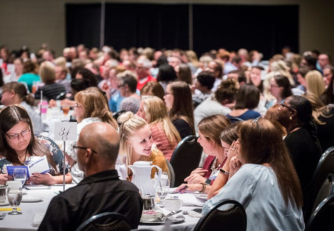 MCS teachers and administrators attend an academic innovation summit at the Horizon Convention Center Wednesday afternoon.