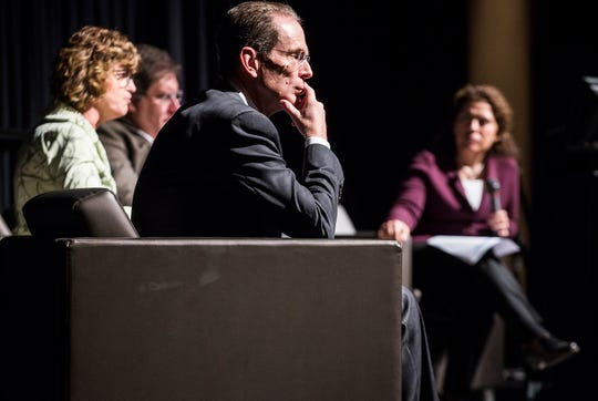 Ball State president Geoffrey Mearns attends an MCS Academic Innovation Summit at the Horizon Convention Center Wednesday.