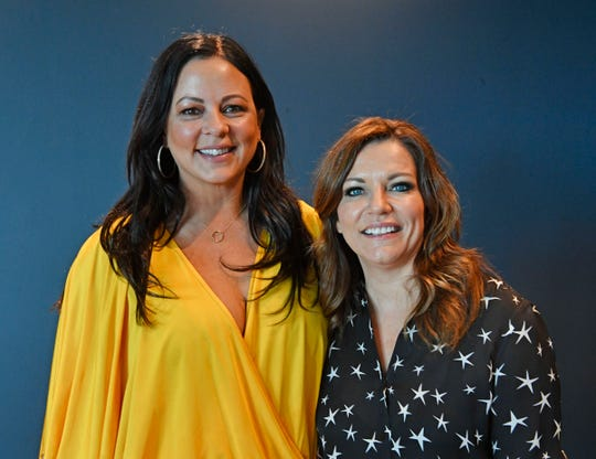 Sara Evans and Martina McBride following the Country Mile podcast taping with Cindy Watts Wednesday, Sept. 25, 2019, in Nashville, Tenn.