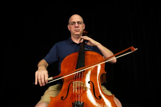 Adam Satinsky, the principal cellist of the Naples Philharmonic Orchestra, plays cello at a studio on Wednesday, September 25, 2019, in North Naples. Adam will play as a guest artist for the Haydn cello concerto in the concert on Oct. 5.