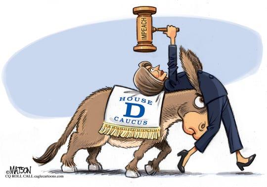 Democrats push Pelosi to impeach.