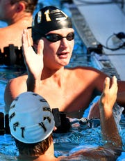 The Private 8 Conference swimming meet features small high schools from Collier and Lee counties in  Naples,Wednesday, Sept. 25, 2019.