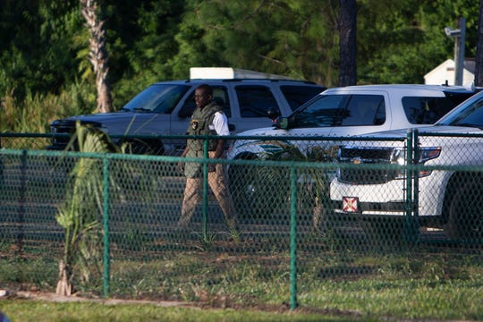 Collier County Sheriff's Office investigate a reported shooting at the David Lawrence Center, Tuesday, Sept. 23, 2019, in East Naples. Sheriff's office found no evidence of a shooting at the scene.