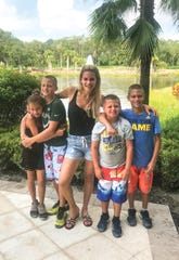 Jackie Goldschneider with her children Alexis, Adin, Hudson and Jonas.
