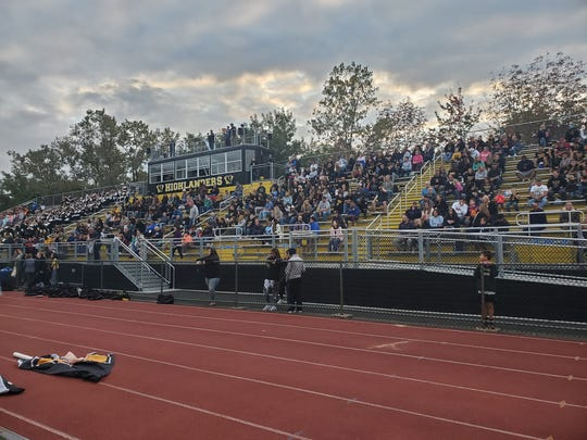 The new grandstand and press box installed at West Milford High School in 2019 cost the district nearly $700,000.