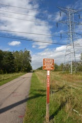 The ITC Corridor Trail as it heads north from 11 Mile east of Wixom in Novi.