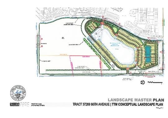 This landscape master plan shows the outline of Thermal Beach Club, including its residences, the lagoon and a reservoir.