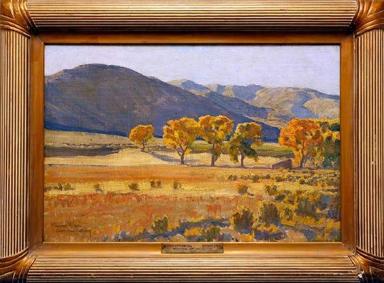"""October Cottonwoods"" by Maynard Dixon, 1920"