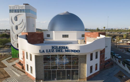 The exterior of Iglesia La Luz Del Mundo in Phoenix on September 17, 2019. The church's leader, Naasón Joaquín García, is facing rape charges and being held on a $50 million bail in Los Angeles.