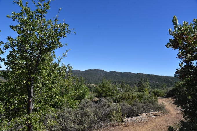 The Bradshaw Mountains seen from Smith Ravine Trail in Prescott.