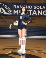 Rancho Solano Prep girls volleyball outside hitter Amanda Koath