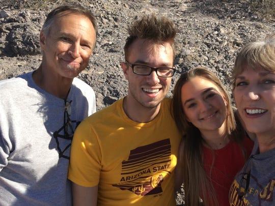 In the fall, we hike.