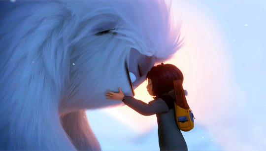 "Everest the Yeti, left, and Yi, voiced by Chloe Bennet, appear in ""Abominable."" The movie is playing at Regal West  Manchester, Frank Theatres Queensgate Stadium 13 and R/C Hanover Movies."