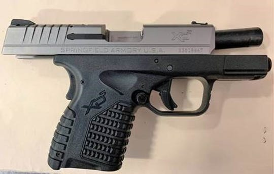 A Chambersburg man tried bringing a loaded gun through a security checkpoint at Harrisburg International Airport on Wednesday, Sept. 25. Photo courtesy of the Transportation Security Administration.
