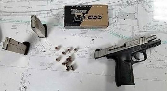 A Salt Lake City, Utah man, tried bringing a gun and ammo through a security checkpoint at Harrisburg International Airport Monday, Sept. 23. Photo courtesy of the Transportation Security Administration.