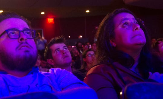 Audience members watch the Overwatch finals at the second annual HUE Invitational at the Whitaker Science Center in Harrisburg on Saturday, Sept. 21, 2019. Maryville University defeated Harrisburg University of Science and Technology 3-0.