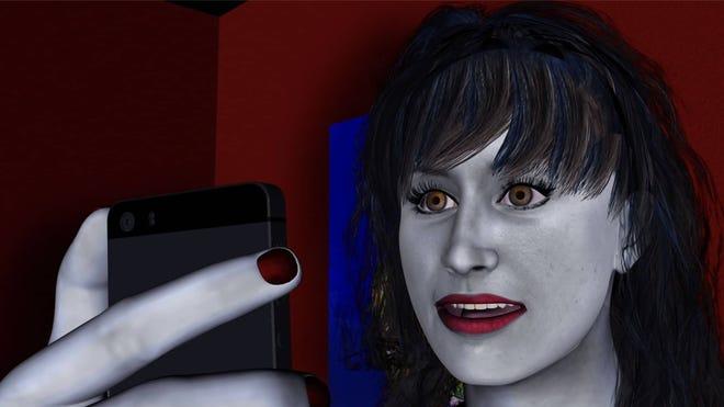 "A work by Carla Gannis in ""Avatar Poetics"" at RoCo."