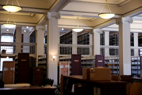 The law library at the Oregon Supreme Court in Salem on Sep. 25, 2019. The offices of the Oregon Supreme Court are moving for about two years to a temporary location next month so seismic upgrades and other construction projects can be finished in the 1914 building.
