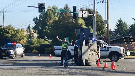 A South Salem crash on Kuebler Boulevard and Liberty Road South sent one person to the hospital and caused long delays on Kuebler Wednesday morning.