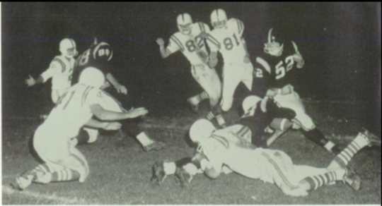 A photo from the first Salinas-Palma football game played in 1964, when the Cowboys won 20-7 at The Pit.
