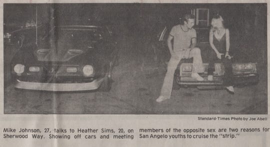 This photograph accompanied a story about the Drag published in 1984 that discussed the litter problem along the route once again.