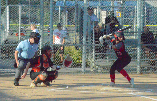 Andrea Cain bats against Sioux Falls Washington on Tuesday, Sept. 24 at Sherman Park.
