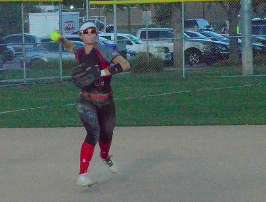 Brandon Valley infielder Andrea Cain makes a play against Sioux Falls Washington on Tuesday, Sept. 24 at Sherman Park.