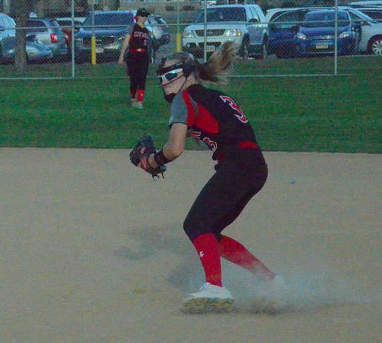 Brandon Valley second infielder Taia Rude makes a play against Sioux Falls Washington on Tuesday, Sept. 24 at Sherman Park.