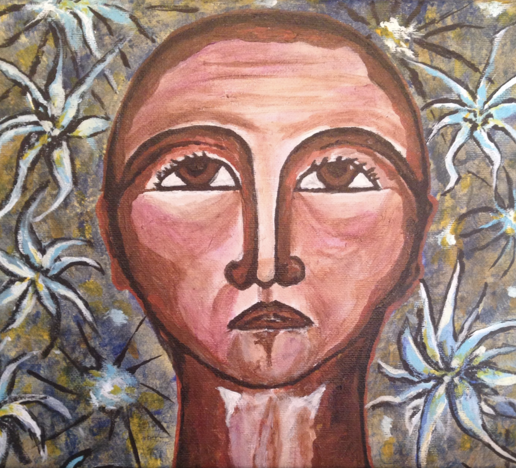 """""""Gnosis,"""" a painting by Colleen Cook, part of a series of paintings she did while contemplating her death. Cook died on July 8, 2019."""