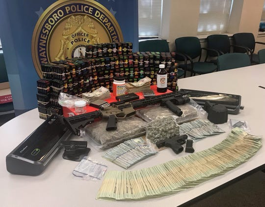 Police in Waynesboro made a large drug bust Tuesday.