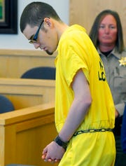 Alex Whipple appears in 1st District Court for his sentencing hearing on Tuesday, Sept. 24, 2019, in Logan, Utah. Whipple, of Utah, who pleaded guilty to killing his 5-year-old niece has been sentenced to life in prison with no chance of parole. (Eli Lucero/The Herald Journal via AP, Pool)