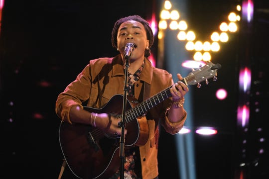 "Tallahassee singer Royce Lovett performs on the ""Blind Auditions"" episode of ""The Voice."""