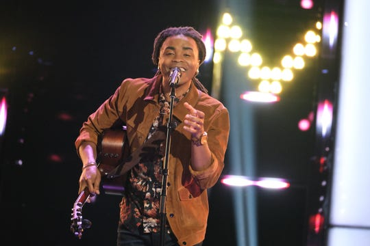 """Tallahassee singer Royce Lovett performs on the """"Blind Auditions"""" episode of """"The Voice."""""""