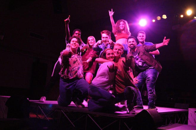 """The cast of """"Godspell"""" at Faith Presbyterian Church tells the traditional parables through skits and songs."""