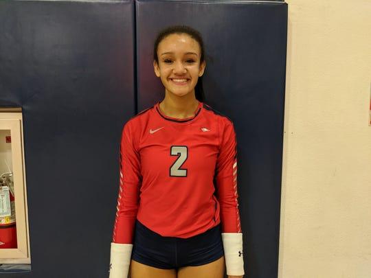 Centennial volleyball player Kailey McKnight