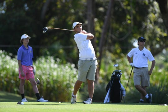 Fort Pierce Central, The Pine School, and Sebastian River High School compete in boys golf on Tuesday, Sept. 24, 2019, at the Sandridge Golf Course, north of Vero Beach, in Indian River County.