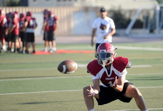 Victor Duran has caught 52 passes for 851 yards and eight touchdowns this season for Santa Paula/