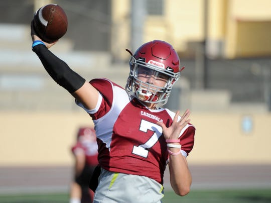 Quarterback Hector Zuniga has thrown for 1,616 yards and 15 touchdowns for Santa Paula this season.