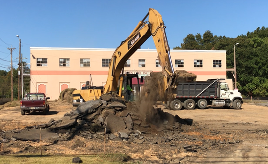 Columbia Care, a medical marijuana grower and retailer, has started renovations at this industrial property at 1560 N. West Boulevard in Vineland.  Work on Wednesday was concentrated on its parking area.