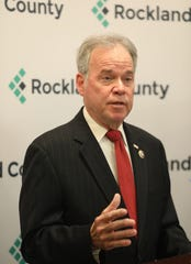 Rockland County Executive Ed Day declares an end to an infectious measles outbreak in Rockland County that began in October and involved vaccination fights and court battles during a press conference in New City Sept. 25, 2019.