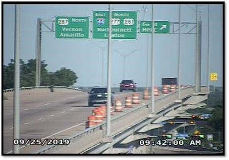 Sixth Street exit will be closed through Friday morning.