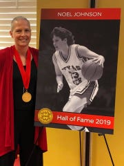 Noel Johnson, Midwestern State University women's basketball coach, was recently inducted into the Southwest Conference Hall of Fame. Johnson, who is battling ovarian cancer, was on the 1993 Texas Tech University national title team and has also been inducted into other halls of fame.