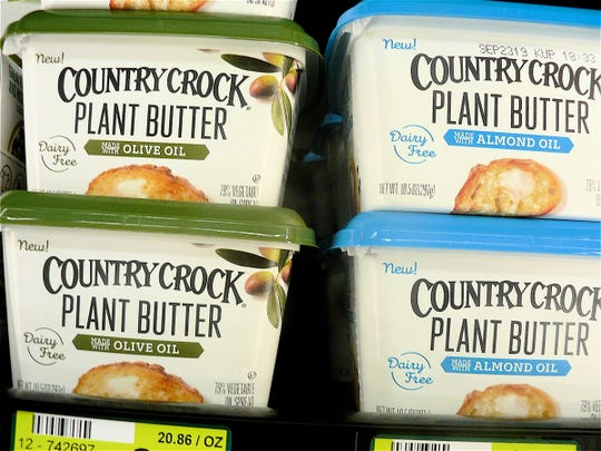 Plant based butter made with olive or almond oil.