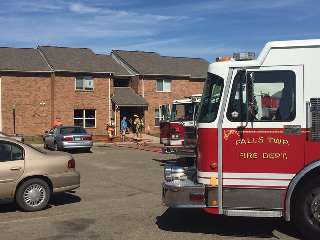 Crews are on the scene of a fire at Vista View apartments.