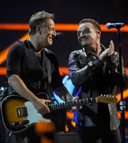 """Bruce Springsteen, performing with Bono at the 25th Anniversary Rock and Roll Hall of Fame concert in 2009, said Jann Wenner, """"built a beautiful and credible home for our history."""""""