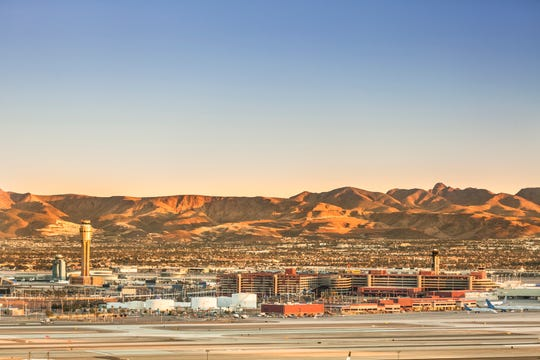 #3 Mega Airport (tie): McCarran International Airport. Score: 777.