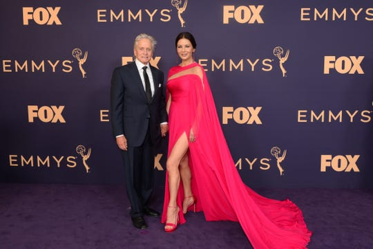 Michael Douglas and Catherine Zeta-Jones at the 71st Emmy Awards at the Microsoft Theater.