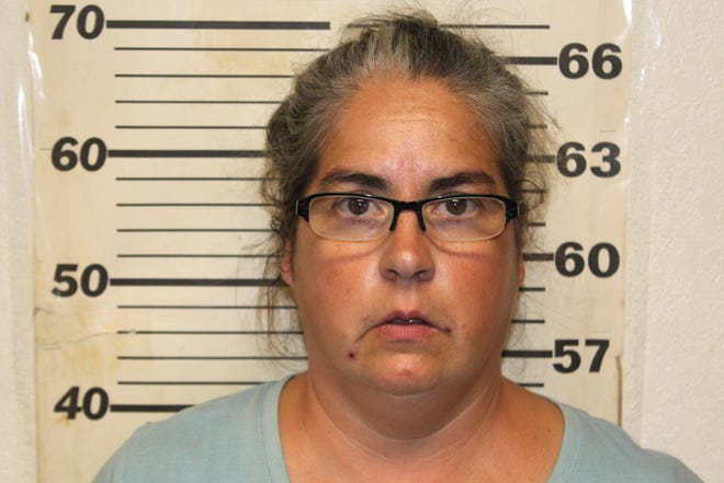 This undated photo provided by the Benton County, Mo., Sheriff's Office in Warsaw, Mo., shows Tiffany Woodington, whe was charged Friday, Sept. 20, 2019, in Missouri with 10 counts of felony animal abuse and two misdemeanor counts of animal abuse. Her husband, Steven Woodington, was charged Thursday in Texas with animal cruelty. A second man described as the caretaker also was charged in Texas with animal cruelty.