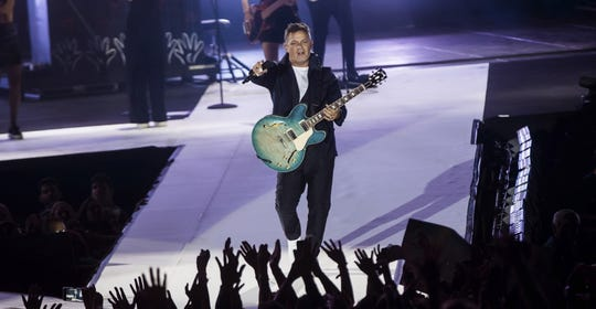 Alejandro Sanz performs in Santiago de Compostela, Spain, in July. The veteran singer-songwriter tops the Latin Grammys with eight nominations.